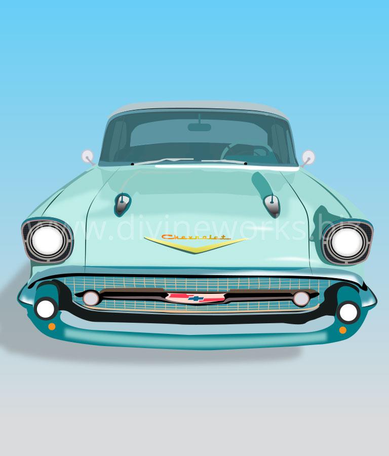 Free Vintage Car Vector Illustration