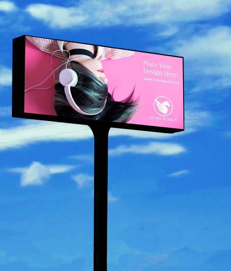 Billboard Advertising PSD Mockup