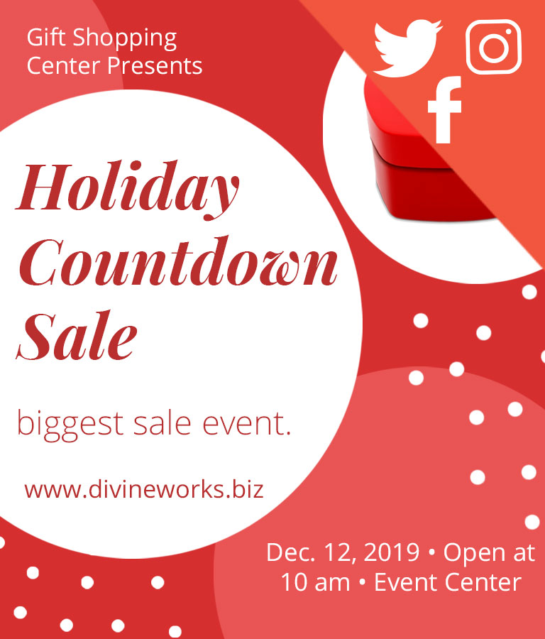 Holiday Sale Social Media Template Set