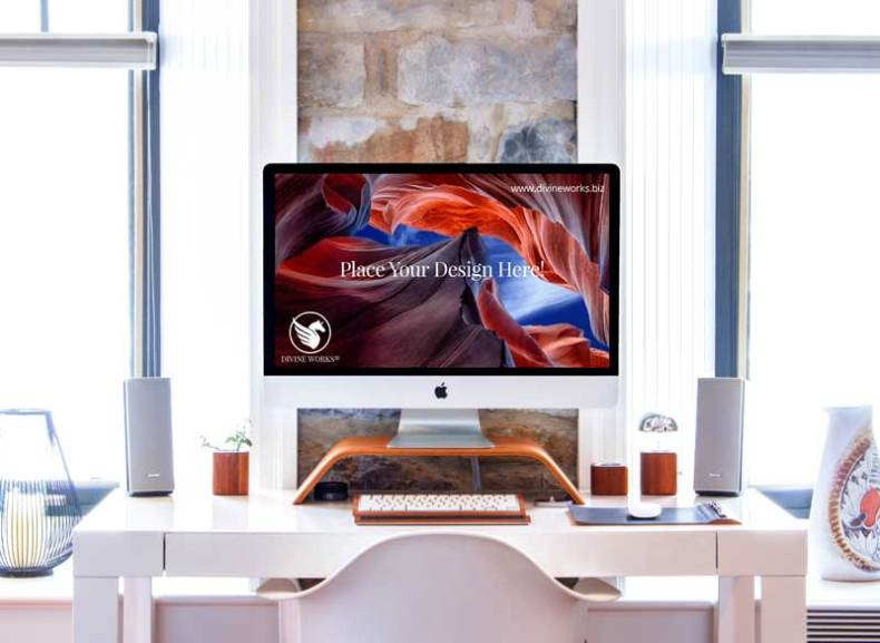 Download Free iMac Screen Mockup PSD by Divine Works