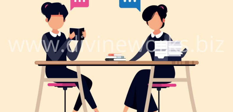 Download Free Book Reading Girls Vector by Divine Works