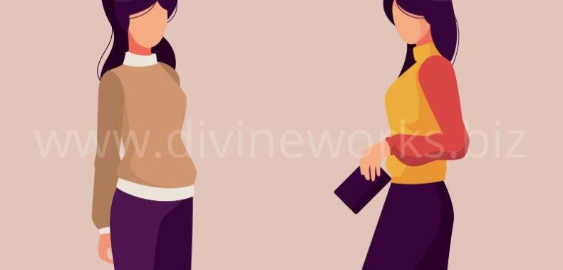 Download Free Modeling Girls Vector Illustration by Divine Works