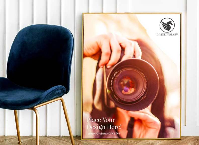 Download Free Realistic Poster Frame Mockup by Divine Works