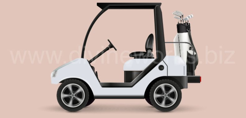 Download Free Golf Car Vector Illustration by Divine Works