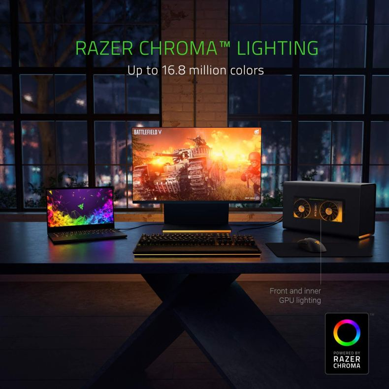 Razer Core X Chroma Aluminum External GPU Enclosure