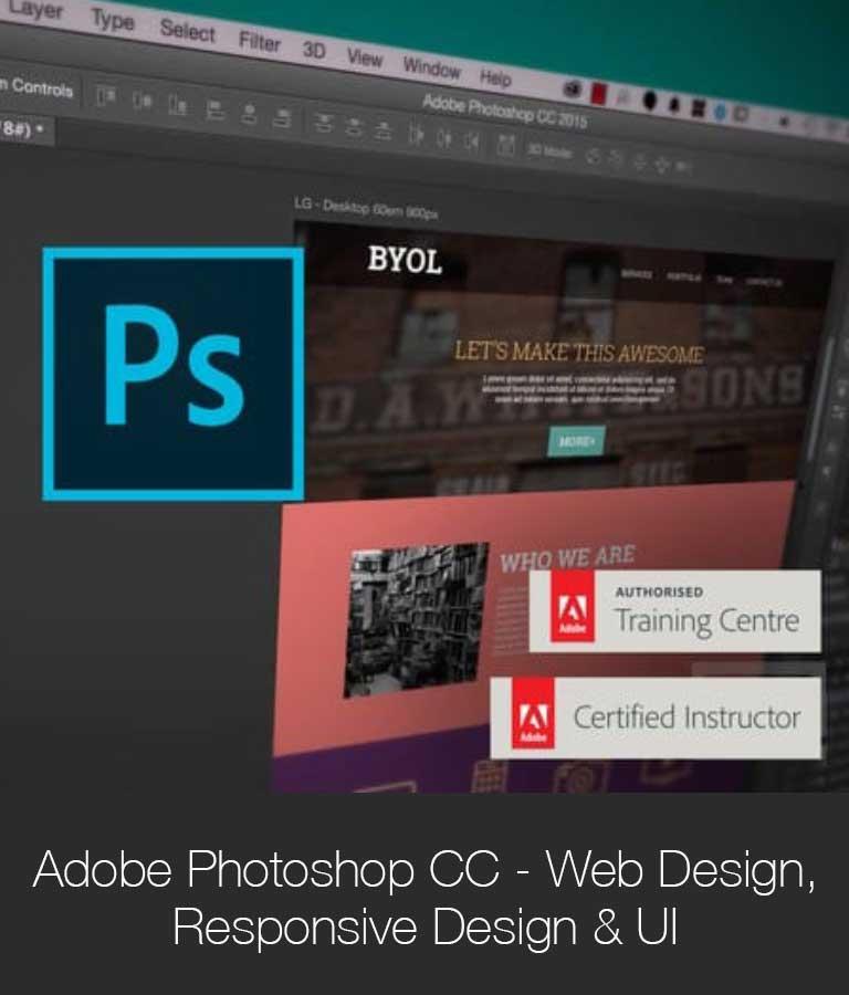 Adobe Photoshop CC Web Design Responsive Design UI