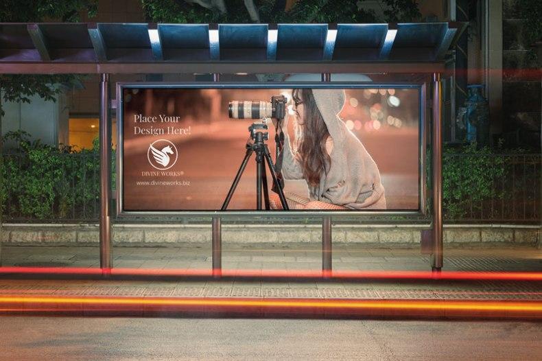 Download Free Bus Stop Billboard by Divine Works