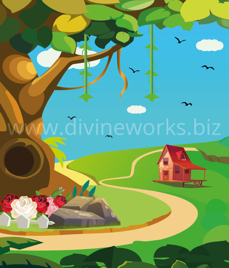 Download Free Adobe Illustrator Forest Vector Illustration by Divine Works