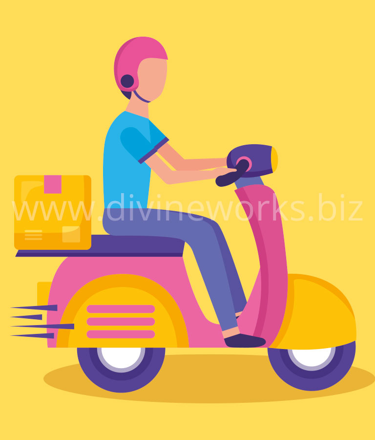 Download Free Delivery Boy Character Vector Illustration by Divine Works