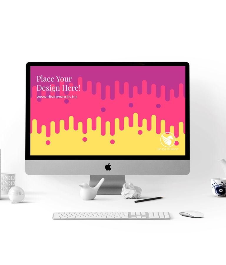 Download Free Apple iMac Mockup PSD by Divine Works