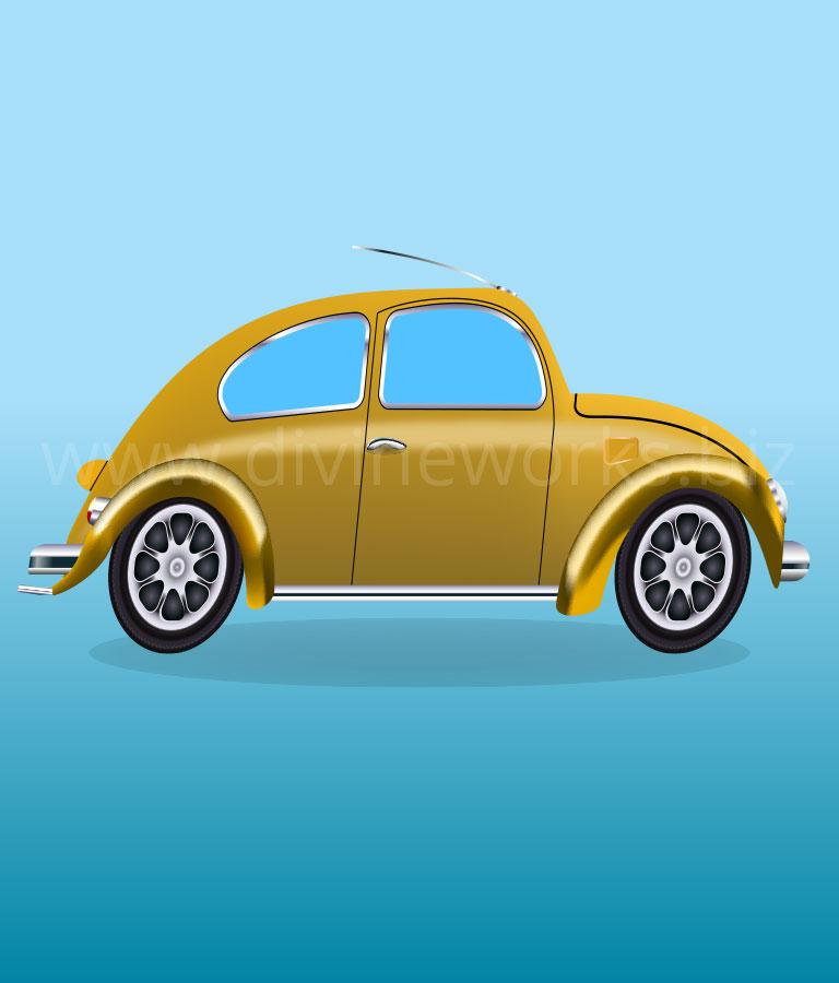 Download Free Adobe Illustrator Volkswagen Beetle Car Vector by Divine Works