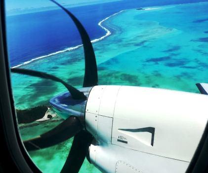 Anflug Tahiti
