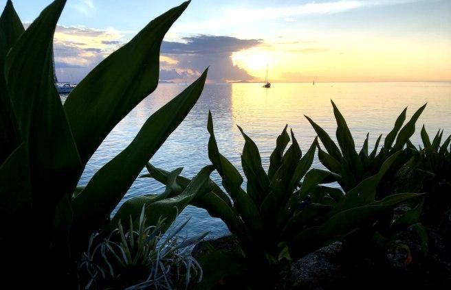 Sonnenuntergang in Huahine