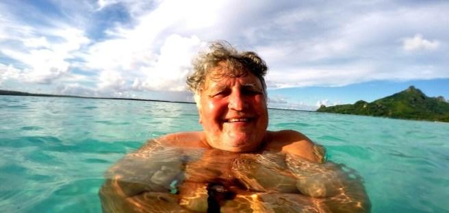 Gerhard im Pazifik
