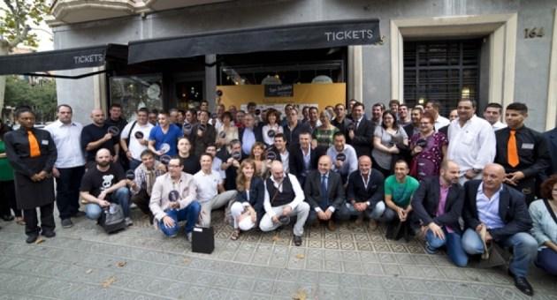 Chefs, propietarios y organizadores de la #TapaSolidaria13
