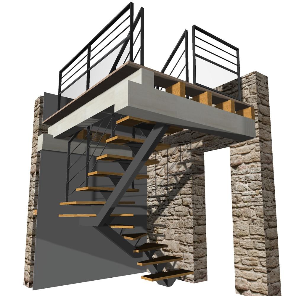 Plan D Escalier En 3d