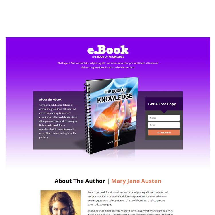 Ebook layout pack divi one page website ebook layout pack fandeluxe Choice Image