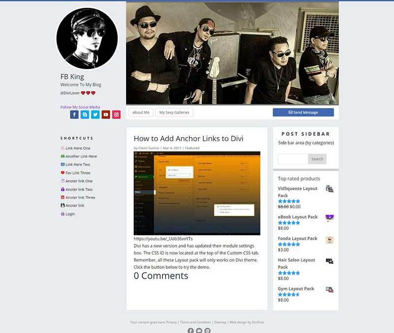Facebook Layout Pack