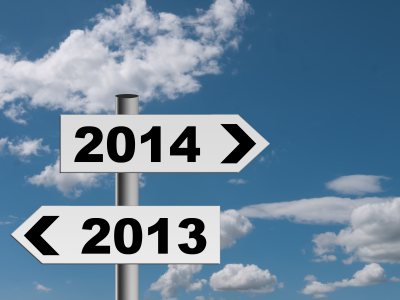 New year signpost 2014