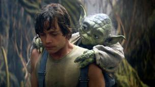 Mestre Yoda e Luke Skywalker em Star Wars - O mentor