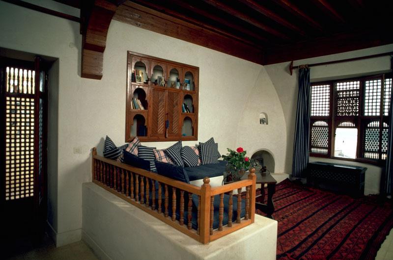 صالة المعيشة في منزل حلاوة