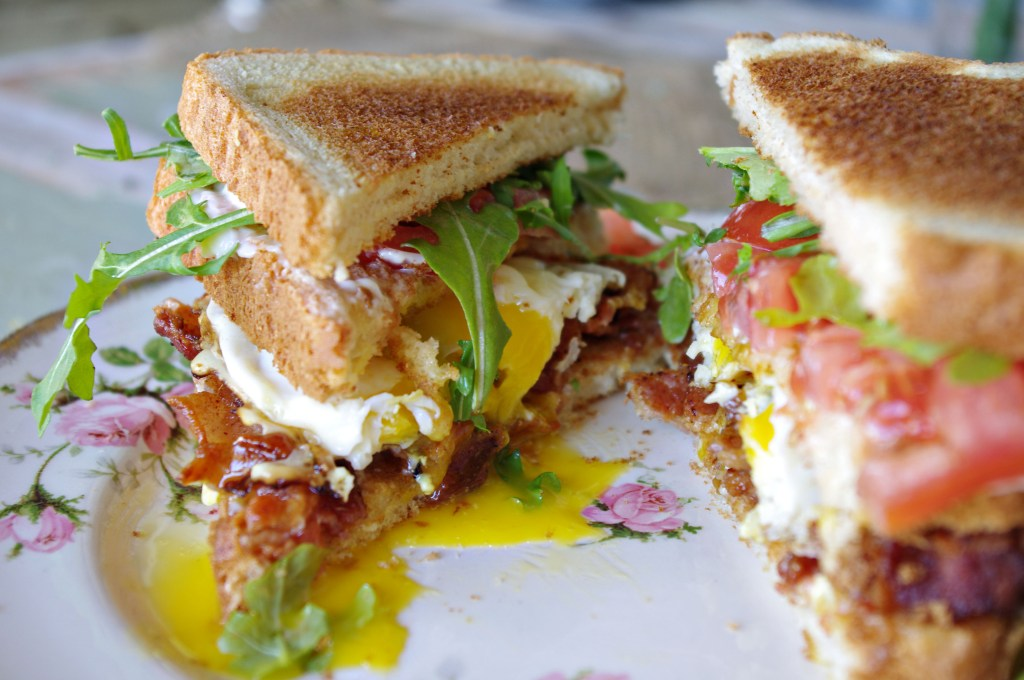 BLT and Egg Sandwich