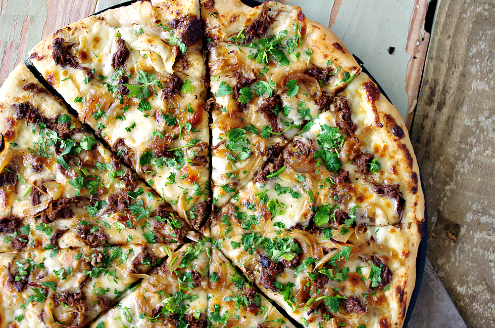 French Dip Pizza