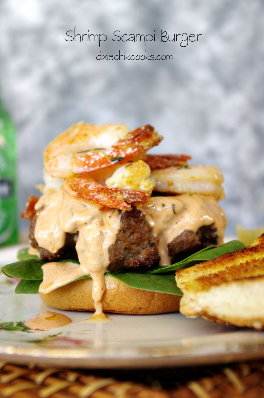 Shrimp Scampi Burger