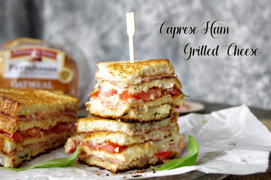 Caprese Ham Grilled Cheese