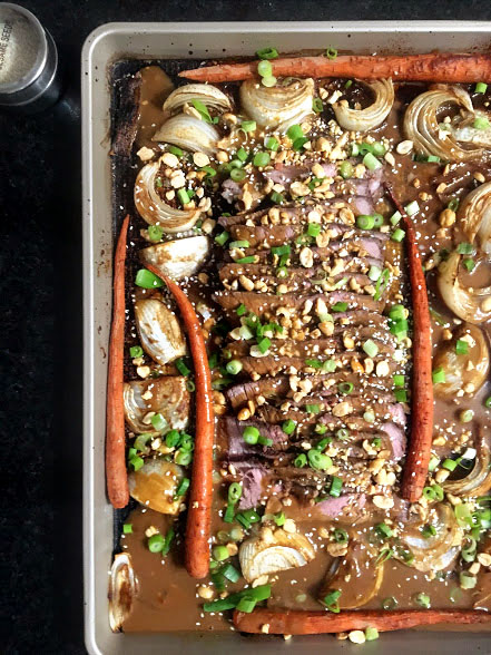 Sheet Pan Thai Peanut Beef