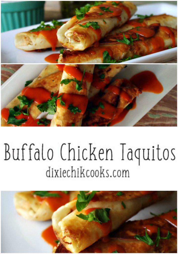Buffalo Chicken Taquitos   Dixie Chik Cooks
