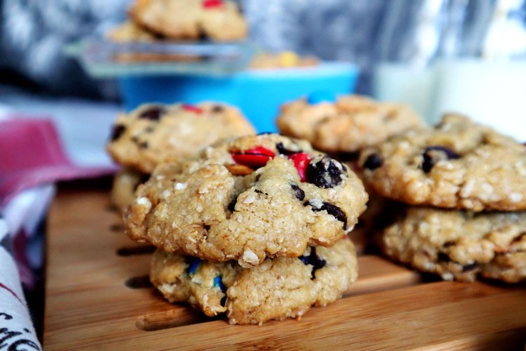 Chocolatey Oatmeal Crunch Cookies