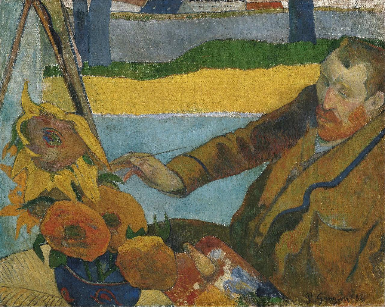 Paul Gauguin - van Gogh målar solrosor