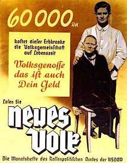 Propagandaaffisch från ca 1938 med igenkännbar retorik