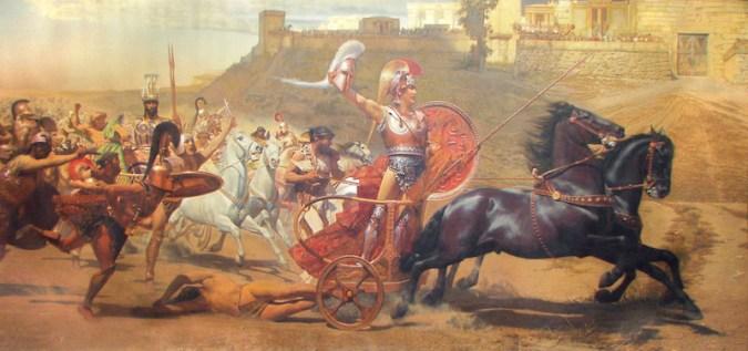 ranz von Matsch - Achilles släpar den döde  Hektors kropp runt Patroklos grav utanför Troja