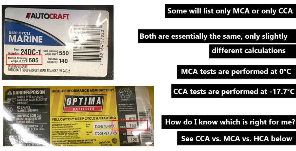 CCA vs. MCA vs. HCA Cranking Amps