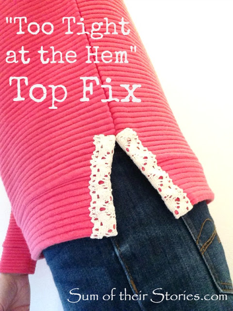 How to fix a too tight shirt on the bottom hem | DIY Crush