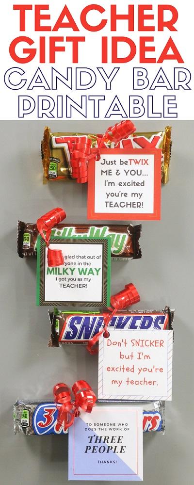 Back to school teacher gift printable