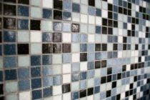 laying mosaic tiles