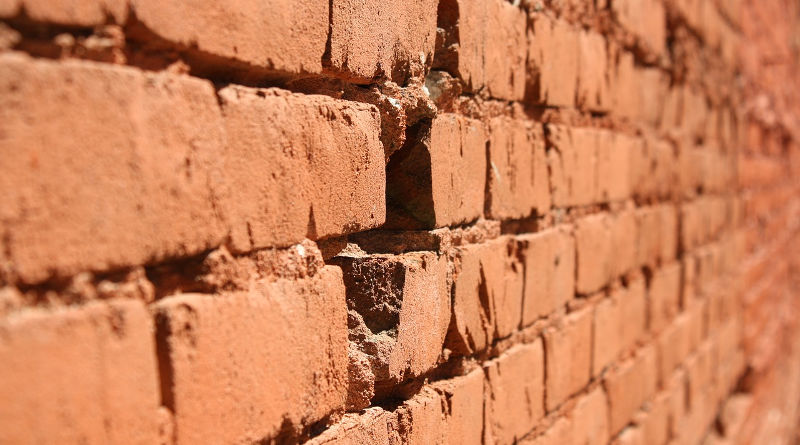 repairing a cracked brick