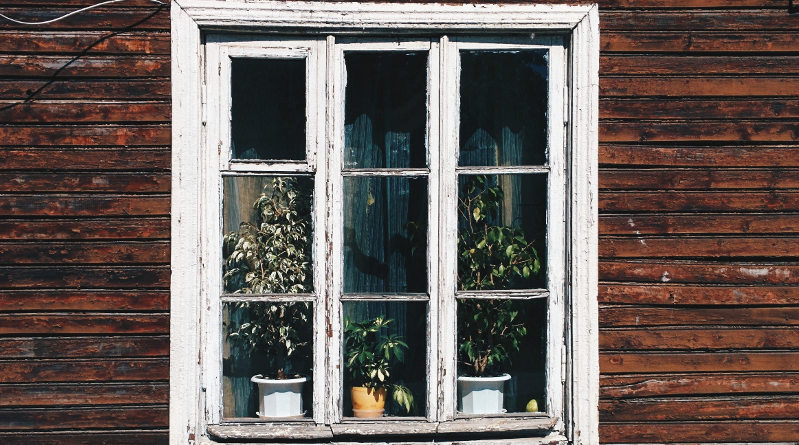 painting wooden window frames
