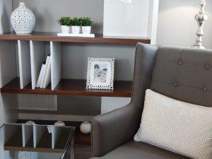 shelves alcove