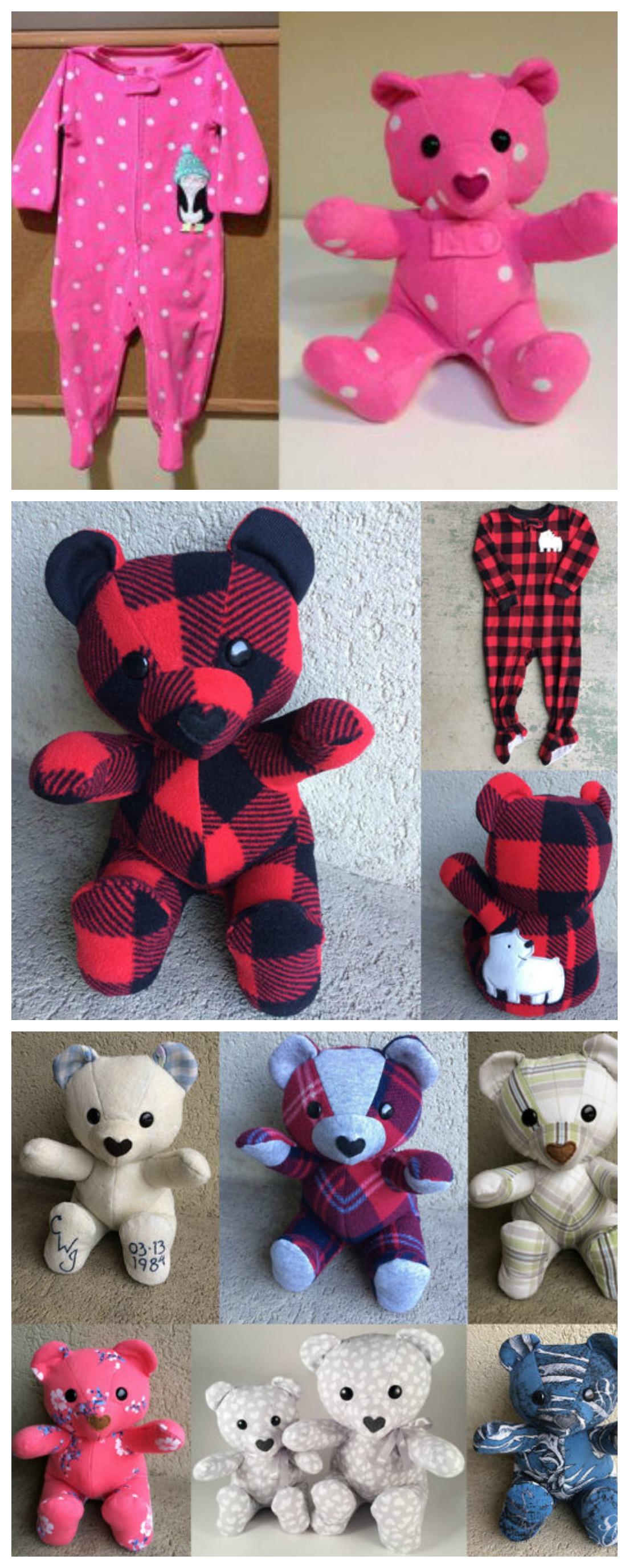 Diy Keepsake Memory Teddy Bear From Baby Clothes