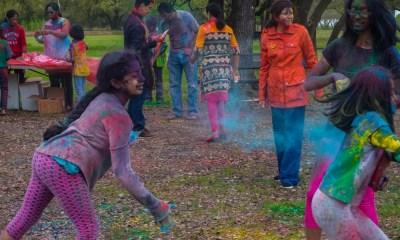 Holi celebrations at Radha Madhav Dham