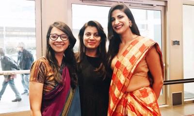 Director/ Producer Shirley Abraham (Film: Cinema Travellers), Director Alankrita Shrivastava (Lipstick under my burkha), Actor Aahana Kumra (Lipstick under my burkha); names left to right