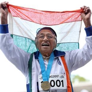 101-year-old Man Kaur wins gold at World Masters Games