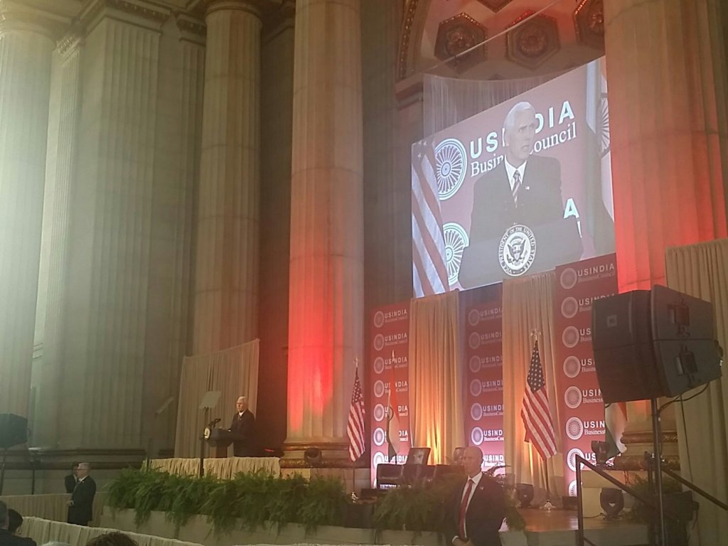 USIBC hosts 42nd Summit in Washington DC during PM Modi's visit. Keynote speaker Vice President Mike Spence announces visit to India