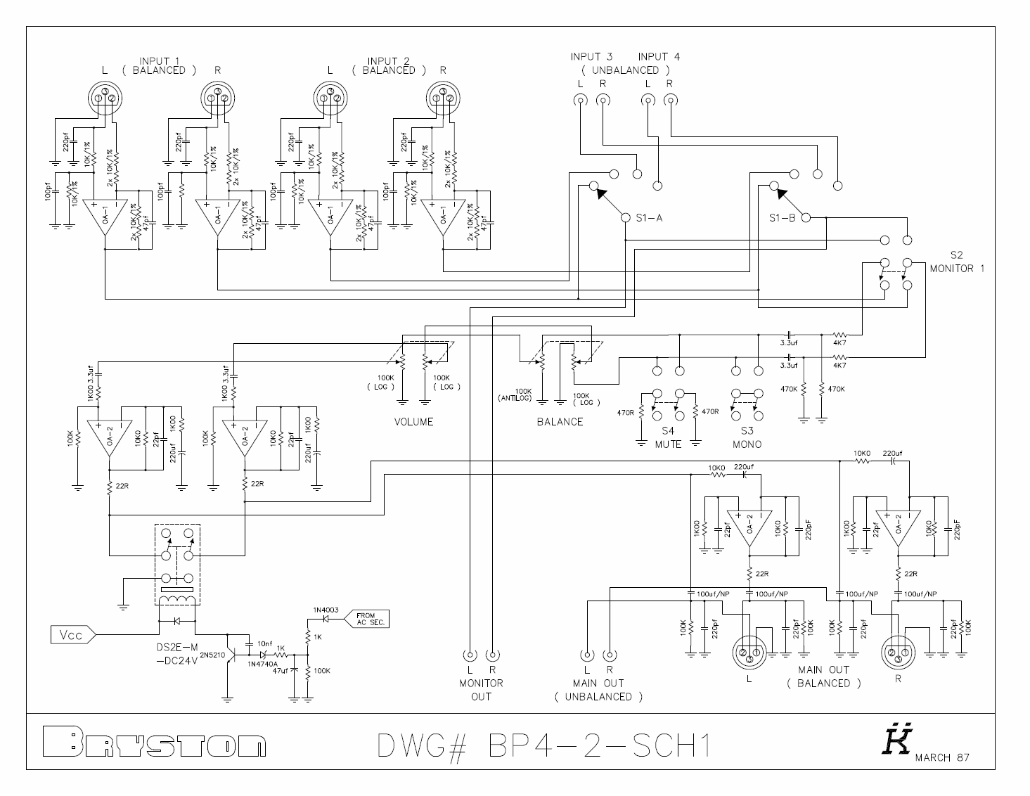 Power Op Amp Schematic