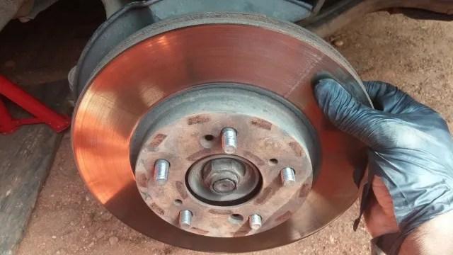 Changing brake rotors on Honda